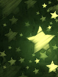 abstract green background with striped stars, vertical