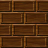 seamless old dark oak square wall panel texture