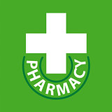 vector logo cross for pharmacy