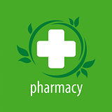 vector logo for pharmacies on a green background