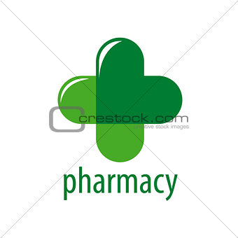Abstract vector logo Green Cross Pharmacy