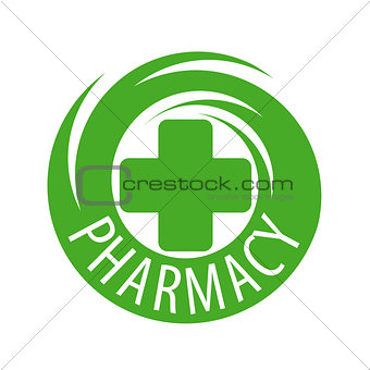 abstract vector logo for pharmaceutical companies