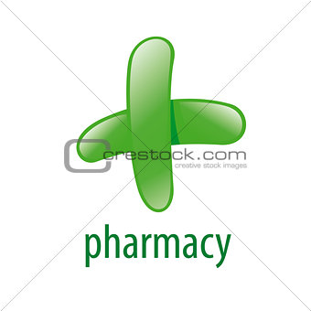 green vector logo for pharmacies