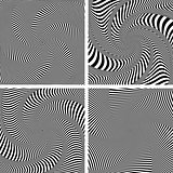 Optical illusion of torsion twisting movement. Set.