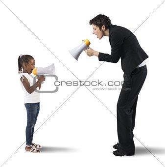 Child vs woman