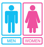 Male and Female Icons, Men and Women Signs