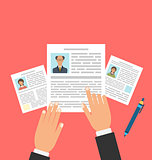 Concept of Job Interview with Business CV Resume