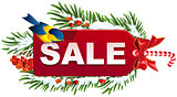 Christmas sale label template