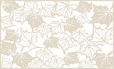 Autumn pattern, with maple leaves. Template for cut