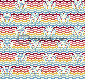 Abstract, geometric seamless pattern
