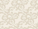 Vector Floral lace vintage rustic seamless pattern