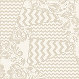 Vector vintage seamless patchwork pattern