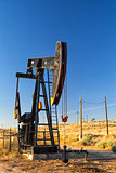 Working oil pump in desert