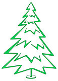Christmas tree, pictogram