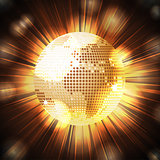Sparkling World globe light explosion
