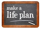 Make a life plan - advice on blackboard