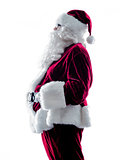 santa claus silhouette isolated