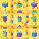 Gift boxes, seamless background