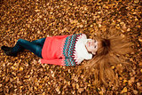 Beautiful young woman - colorful autumn