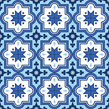 Arabic pattern, Moroccan blue tiles design