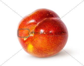 Single yellow and red plum horizontally