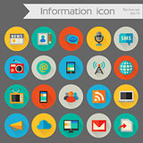 Detailed information icon set