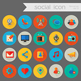 Detailed social icon set