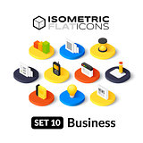 Isometric flat icons set 10