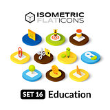 Isometric flat icons set 16