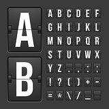 Scoreboard letters and symbols alphabet panel