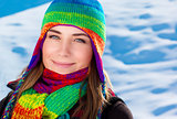 Beautiful winter portrait of woman