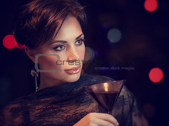 Beautiful woman on the party
