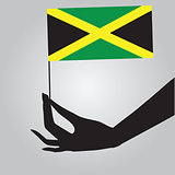 Hand with Jamaica flag