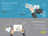 set of content for website of  business planning and investment