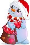 little snowman postman