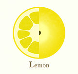 Lemon raster illustration