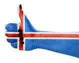 Flag of Iceland isolated