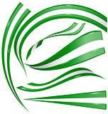 nigeria flag set on white background
