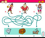 paths puzzle educational task