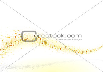 Wave Golden Stars and Confetti