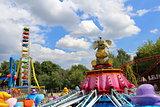 Carousel with elephants