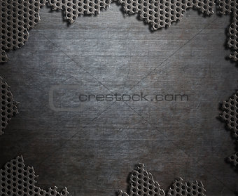 old cracked metal background