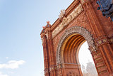Arch of Triumph in Barcelona, Spain.