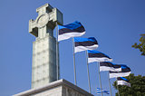 Estonian Flags & Cross - Tallinn