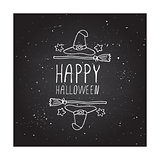 Happy halloween - typographic element