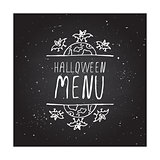 Halloween menu - typographic element