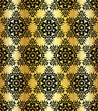 seamless shining background with vintage floral pattern.