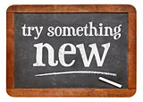 Try something new on blackboard