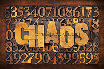 chaos and numbers word abstract