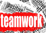 Word cloud teamwork business sucess concept